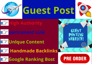 10 Guest Post on High Authority websites with unique content low spam score domain