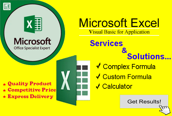 I will create and edit any Excel formula