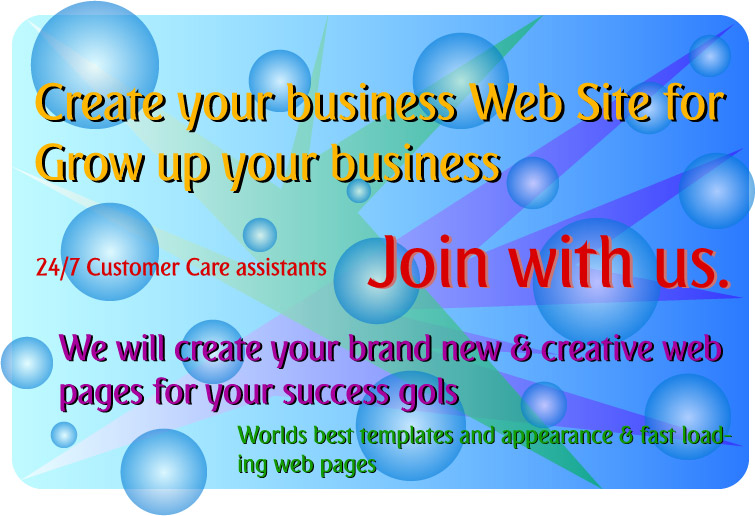 Join with us to create worlds best & creative Website for grow up your own business or other target