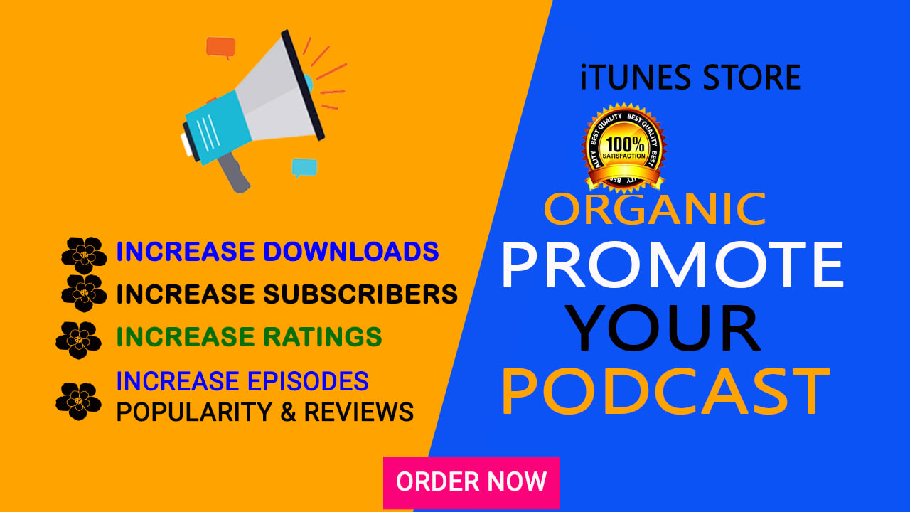 Organic promote your podcast highly downloads and ratings