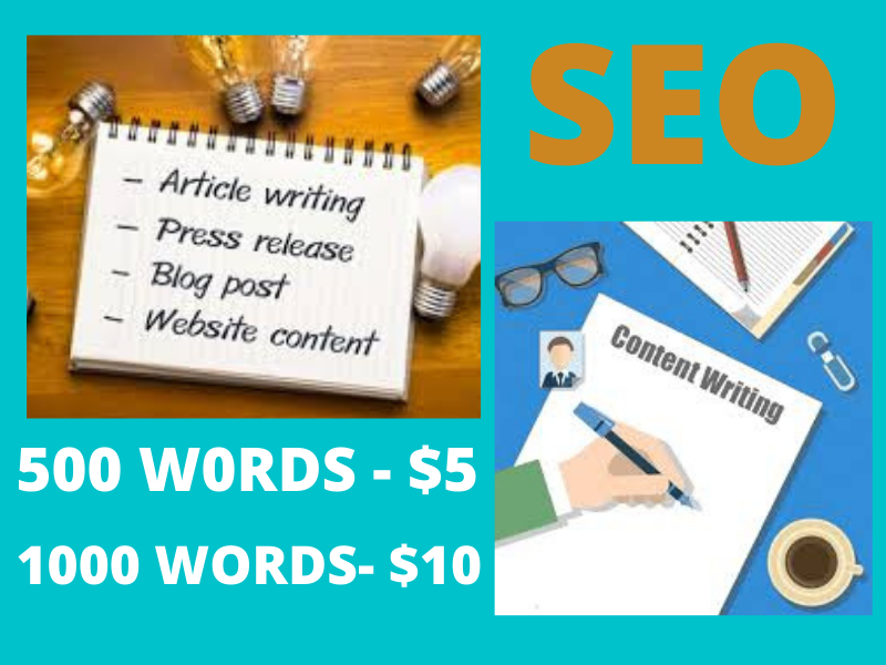 High quality 500 words SEO article writing and blog posts