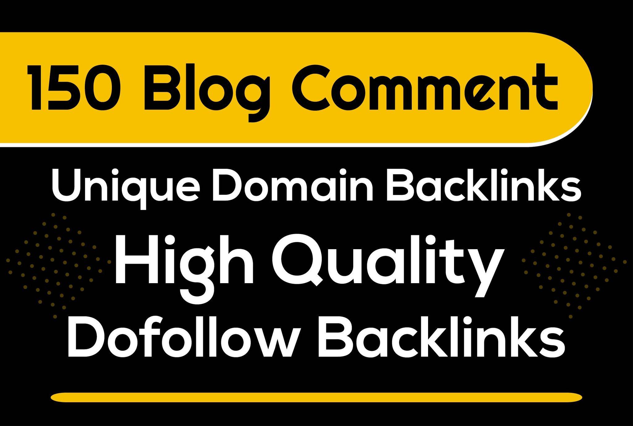 150 unique domain low obl blog comment dofollow backlinks