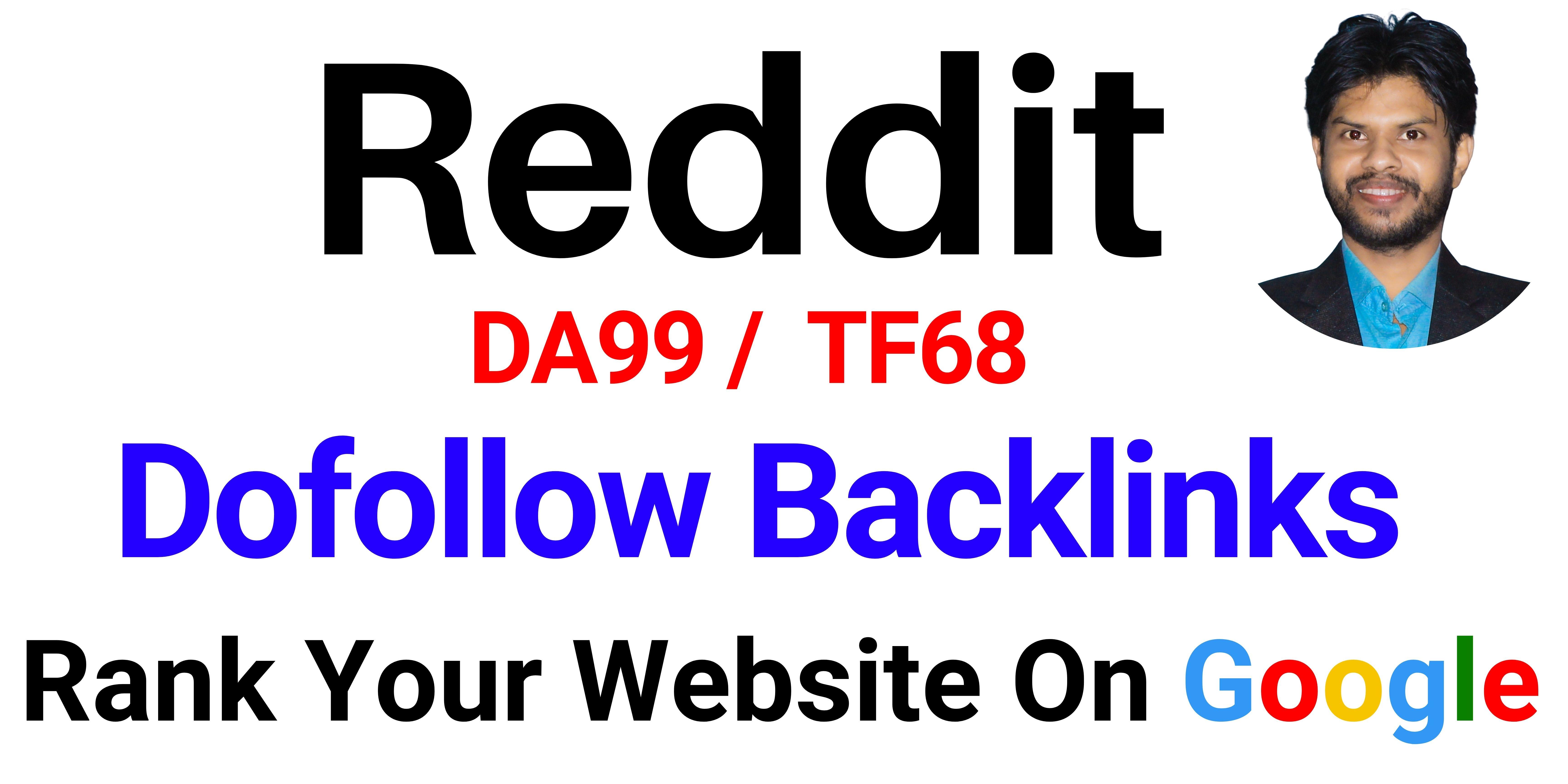 UPERSTRONG DA99 Do-Follow Backlinks From Reddit