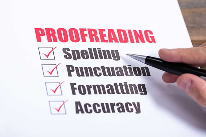 English proofreading and improving content quality and readability for 2000 words