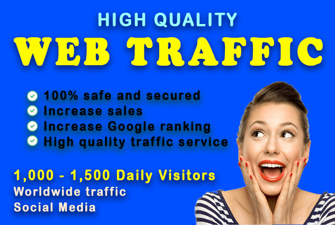 Unlimited real human web traffic to your website by search engine & social media