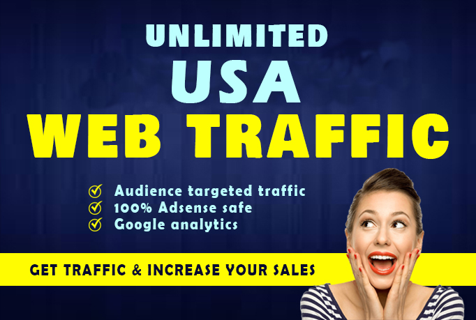 Unlimited Keyword Targeted USA Web Traffic By Google Search Engine