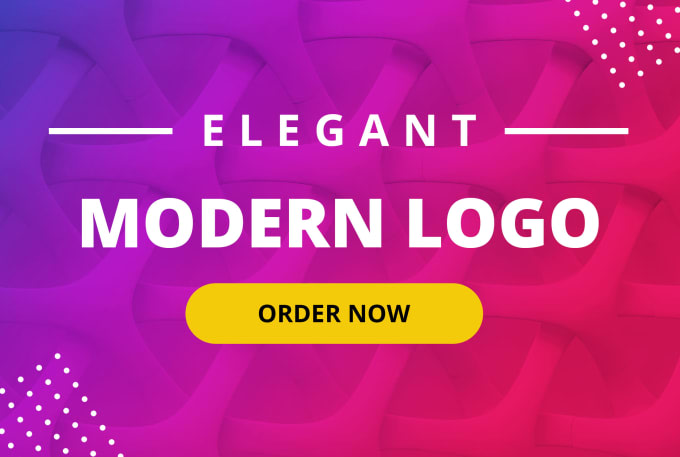 I will design an elegant modern minimalist logo for your brand