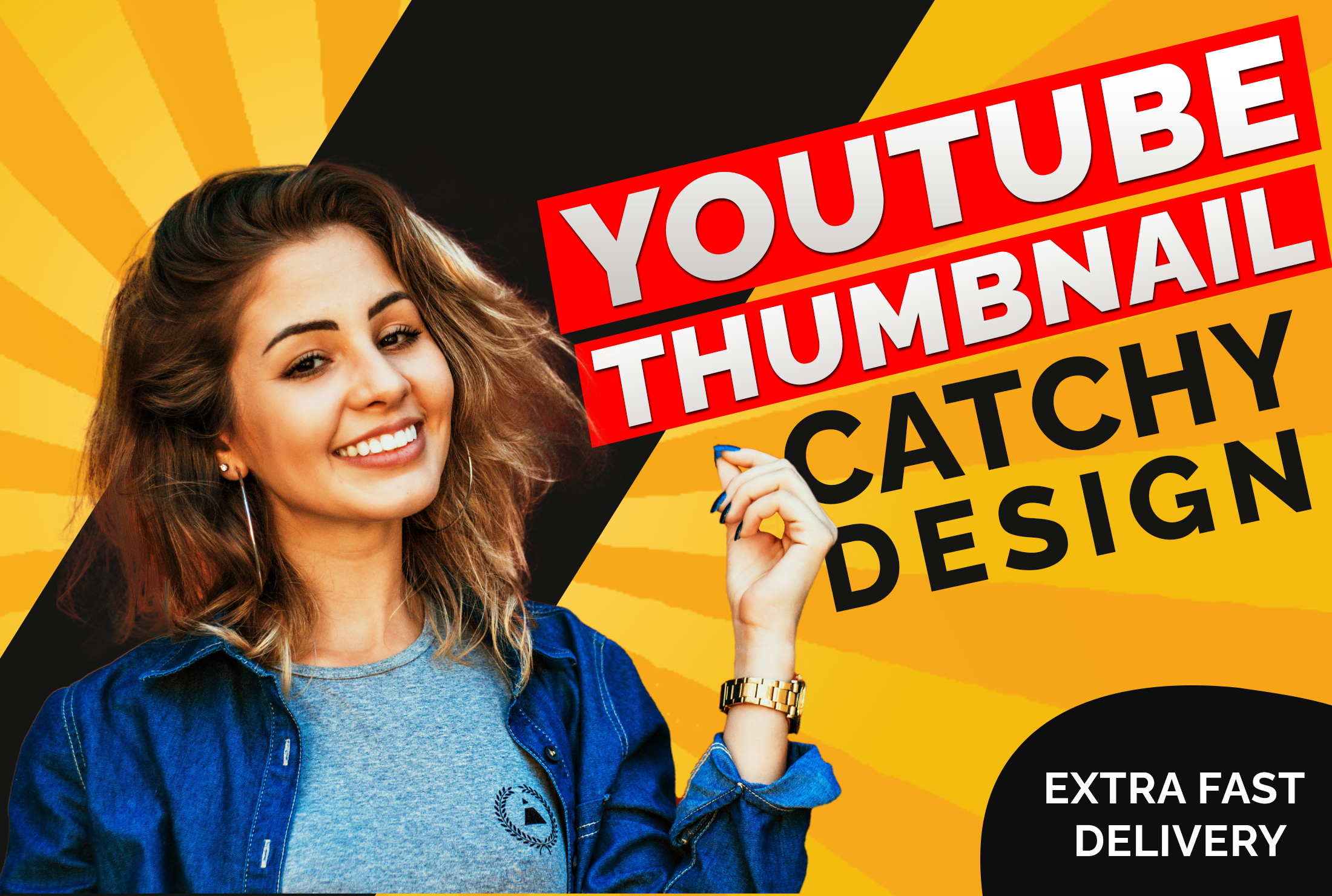 I will design an attractive and catchy youtube thumbnail