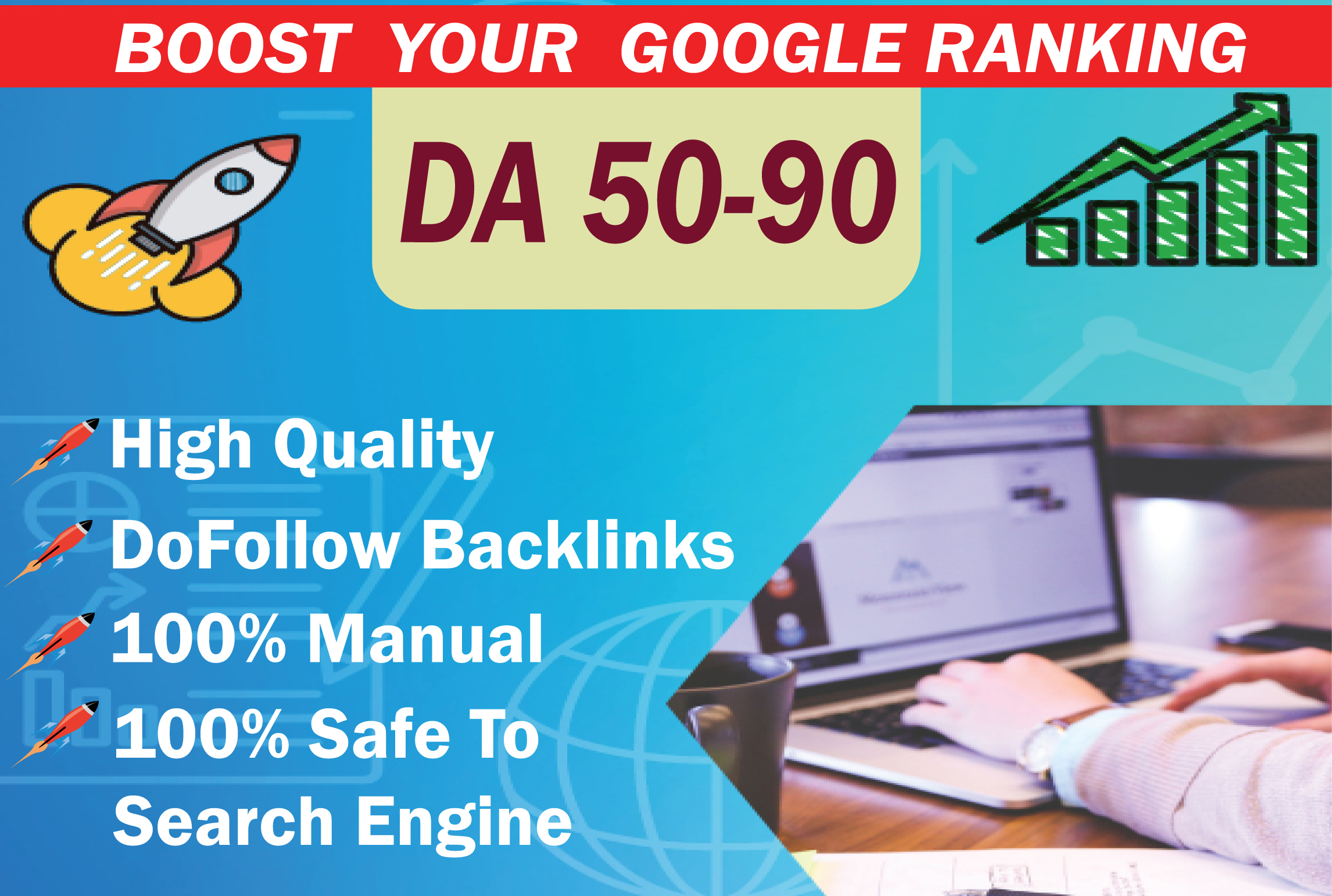 I will build high quality SEO backlinks high da authority to improve ranking