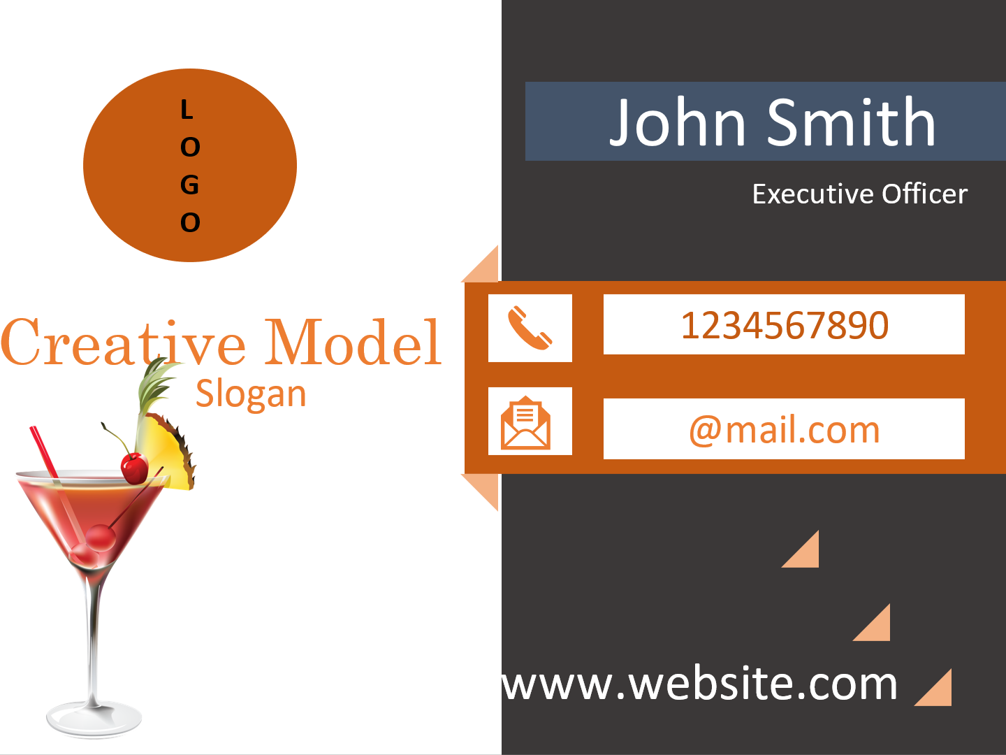 I will create 2 different business cards design concepts