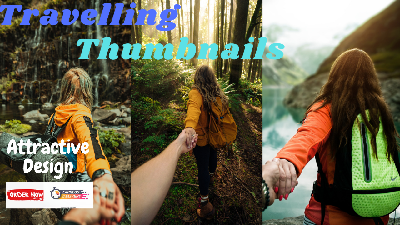 I will make professional travelling thumbnails for you