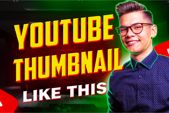 I will design stylish youtube thumbnail for your video
