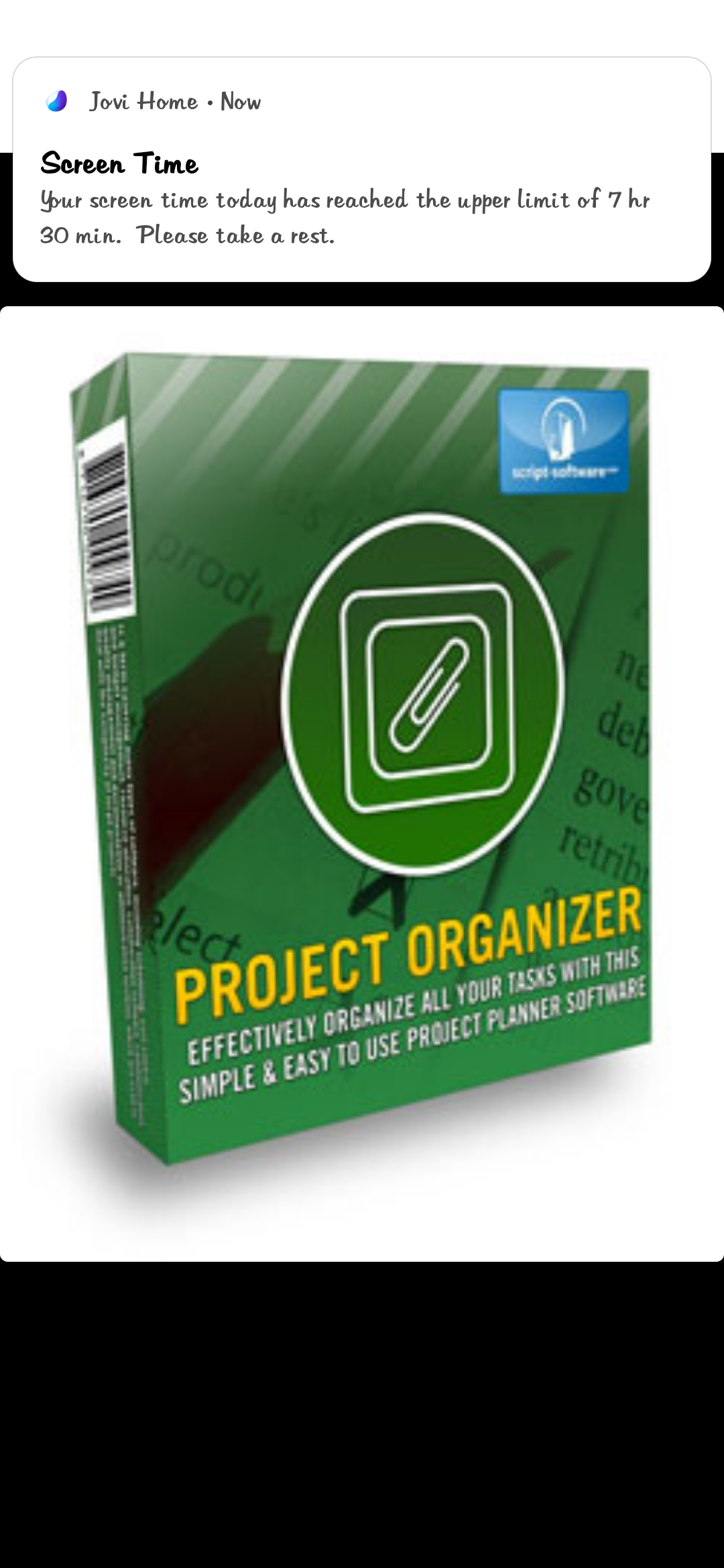 Project organizer service manegement and create