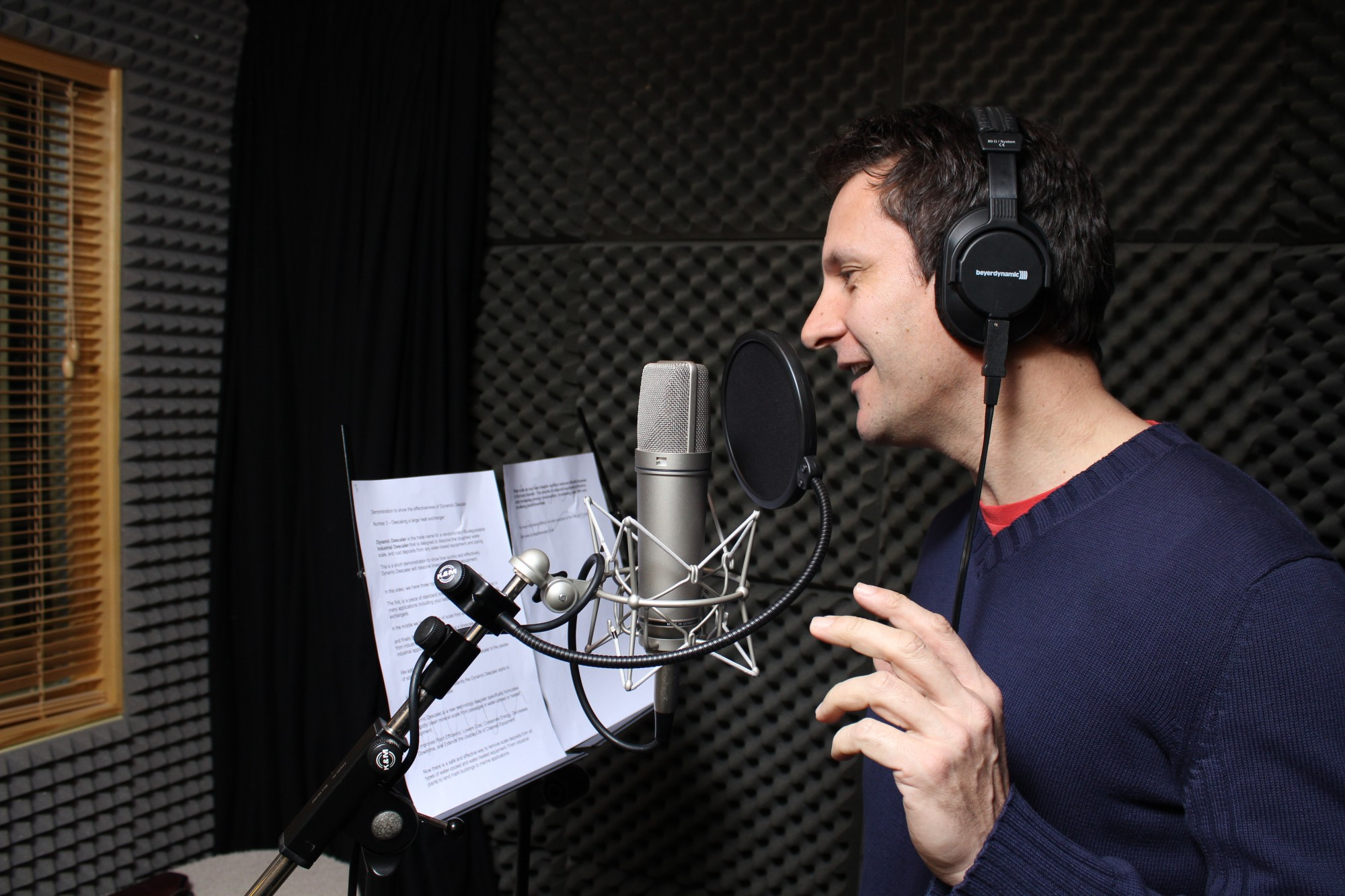 The former professional voiceover