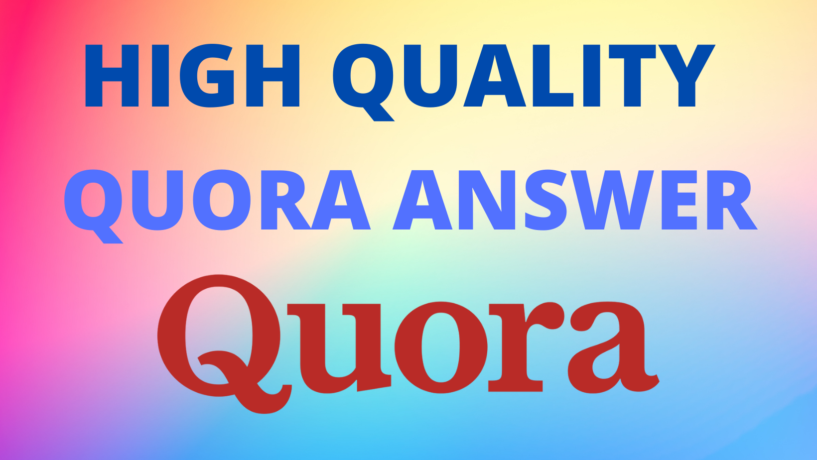 We will provide 10 HQ Quora Backlinks to get more traffic