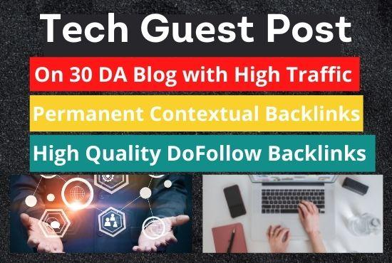 I will publish a tech guest post on high da tech blog