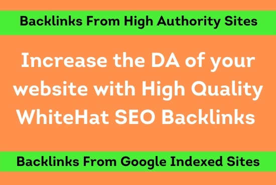 I will increase the DA MOZ of your website with 5 high quality backlinks