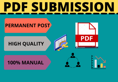 60 PDF Submission High Authority Low Spam Score Website Permanent Dofollow Backlinks