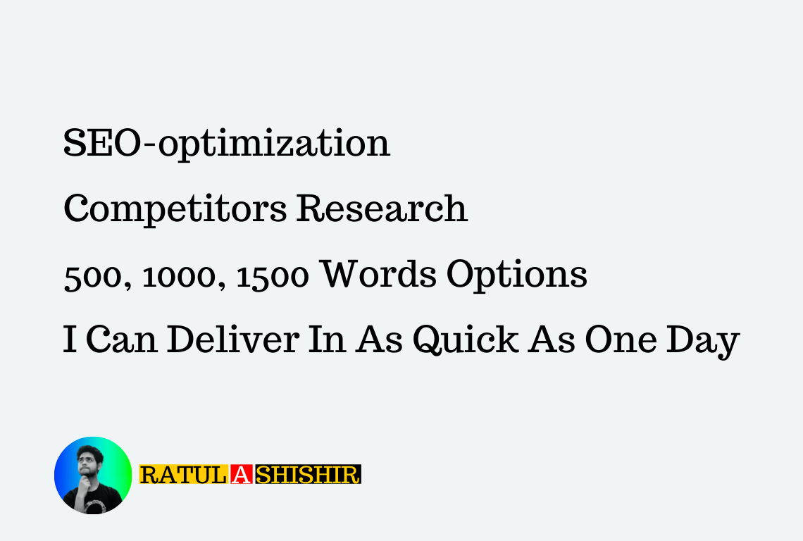 Write me a 500-word SEO blog post or article of superior quality.