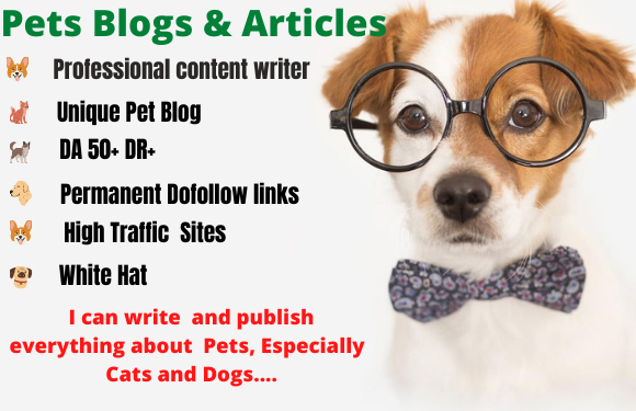 I will write and publish pet guest post