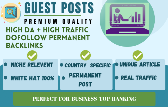 I will provide dofollow guest posts on sites relevant to your niche