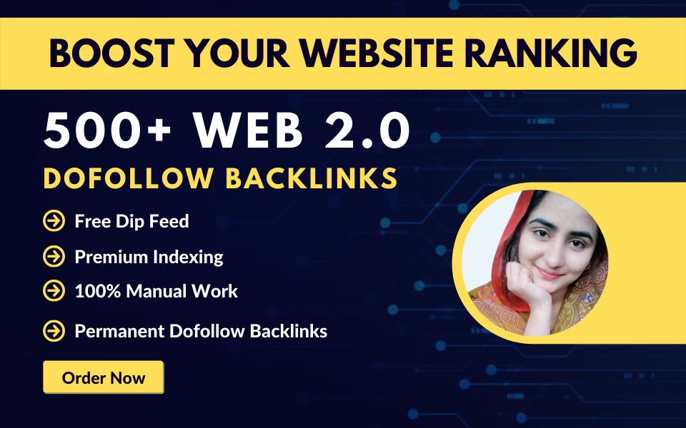 I will build 100 high authority web 2.0 backlinks