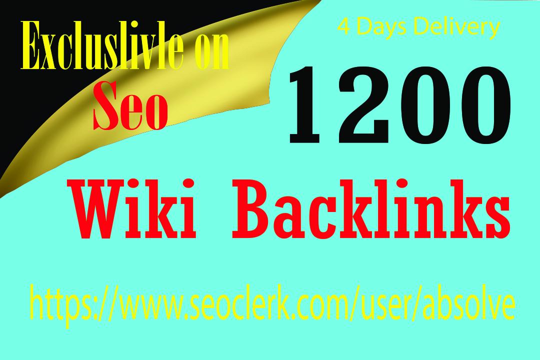 I will create 1200 qualified wiki backlinks