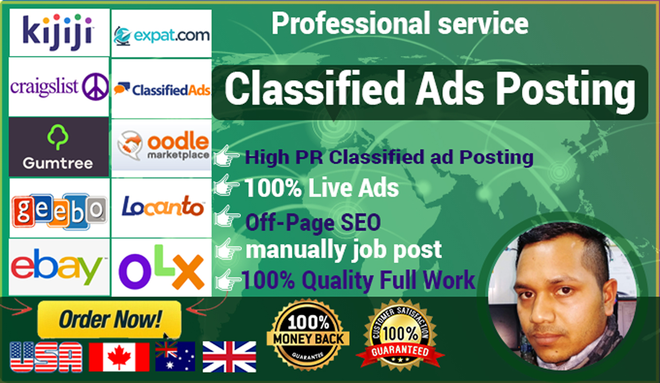 I will do classified ad posting to your targeted location