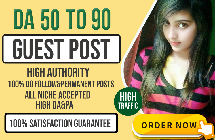 I will do dofollow high da guest post for your website or blog