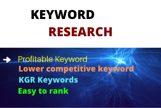 I will do KGR keyword research that is the best amazing that actually rank