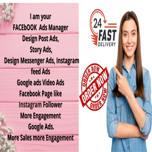 I am Your Facebook Ads manager & Google ads Expert Design the post