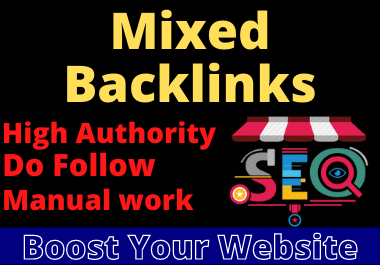 I will create 100 mixed dofollow backlinks manual low spam score high da website.