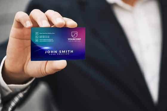 I will do professional,  modern,  minimalist business card design