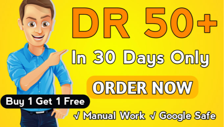 I will do ahrefs domain rating DR 50 plus in 10 days