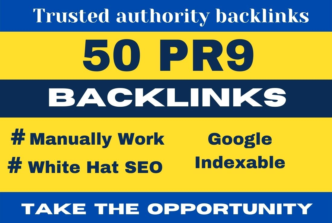 Manually I will make 50 PR9 backlinks to the high DA PA blog