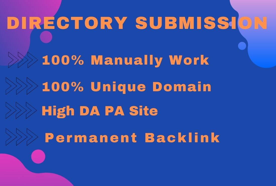 Manually I will be able to build 50 Directory submission backlinks to the high DA PA journal.