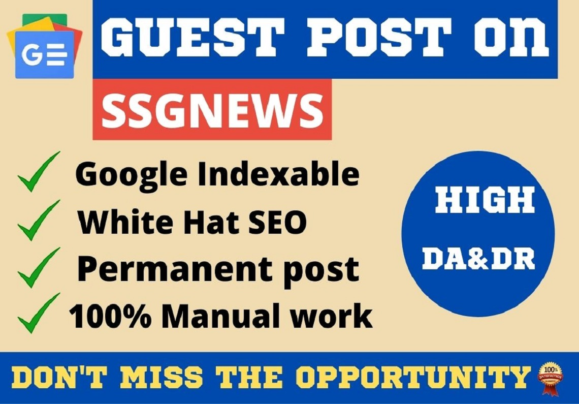 Premium do-follow guest post on DA 65 Google indexable site