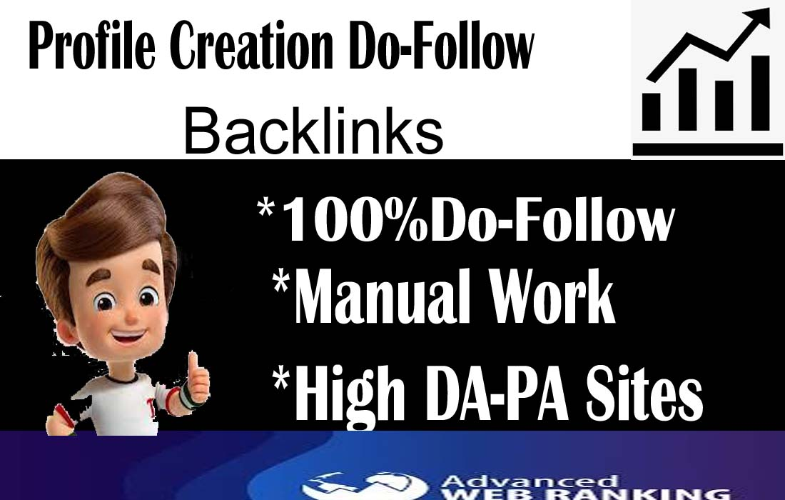 I will create backlinks to 30 profile creations
