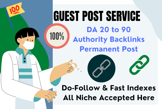 Backlinks by Guest Posting on High DA High Quality Health Sites