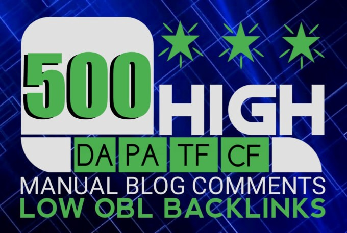 I Will Create 500 High Quality Permanent Dofollow Blog Comments Backlinks
