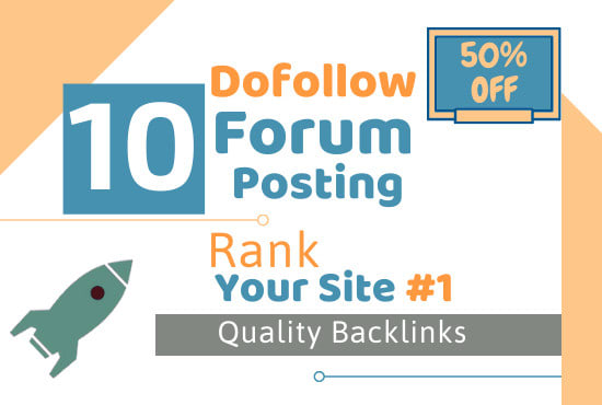 I will provide 10 forum posting dofollow backlinks