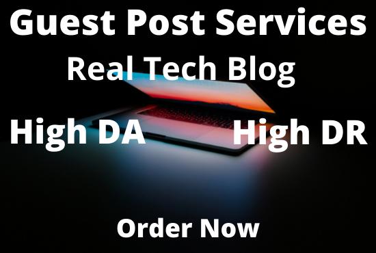 I will do Tech guest post on high da Sites