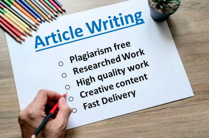 Write SEO Optimized Articles And Blogs On Any Topic