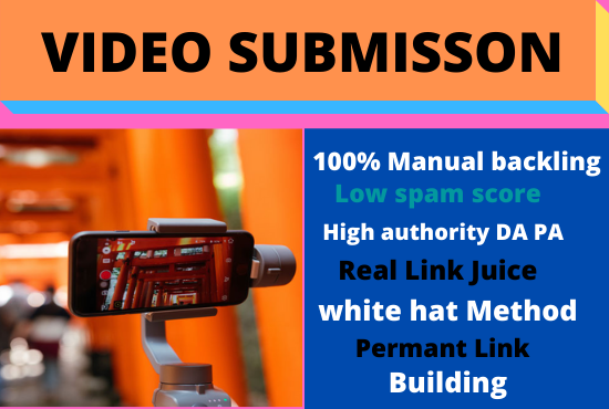 80 Video Submission dofollow backlink high authority permanent high da white hat seo