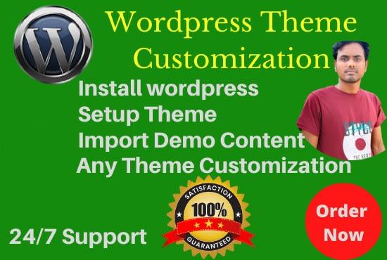 install wordpress,  theme setup, do