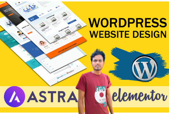 I will create wordpress website with astra pro and elementor pro