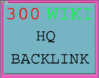 I will Give you 300 wiki articles contextual backlinks