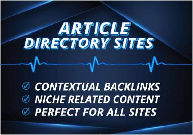 Get 500 contextual backlinks from article directory sites
