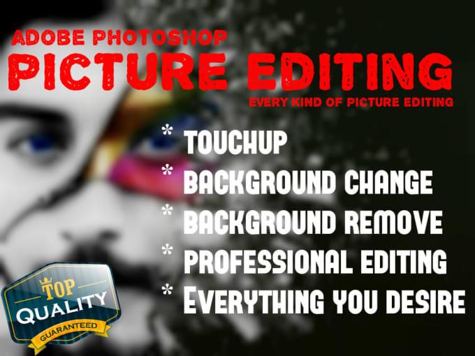 I will do photo retouching,  skin retouching,  image editing,  photoshop background