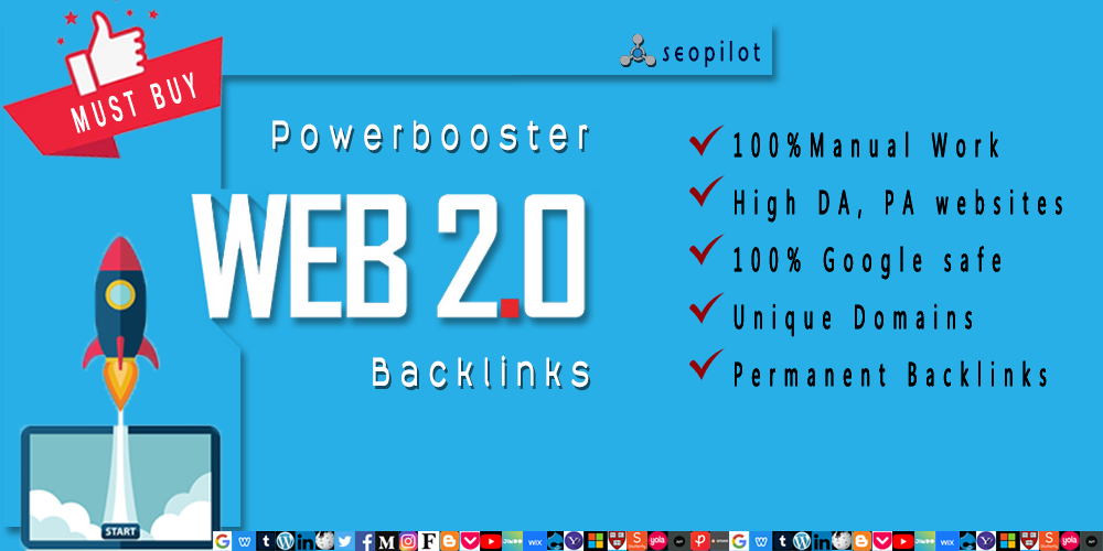I will create PowerBooster authority Web 2.0 Backlinks